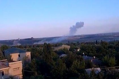 Появилось видео обстрела Донбасса украинскими военными
