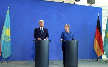 О чем Касым-Жомарт Токаев и Ангела Меркель говорили на пресс-конференции