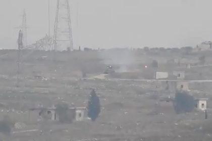 Уничтожение ракетой Т-55 попало на видео