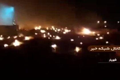 Первые секунды после падения украинского лайнера в Иране попали на видео