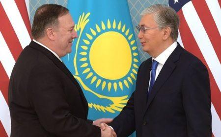 Глава Казахстана встретился с Госсекретарем США