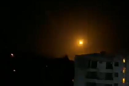 Отражение ракетной атаки в Дамаске попало на видео